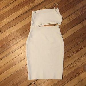 Dresses - White Side Cut Out Tube Dress Size M - 3/$20